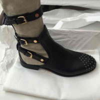 Chloe suede stud boots Angle2