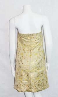 RED Valentino Gold Dress Size 12 Angle3