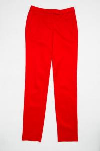 Cropped Stretch Twill Trousers in Cayenne Angle3