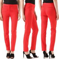 Cropped Stretch Twill Trousers in Cayenne Angle6