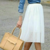 Marc Jacobs White Gauzy Full Skirt