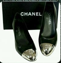 Chanel Metallic Toe