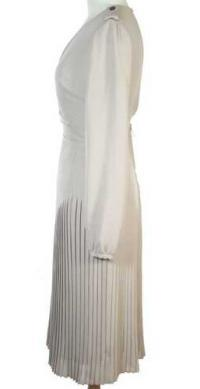 Burberry Pleated Beige Dress Angle3