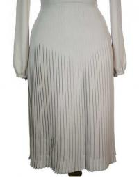 Burberry Pleated Beige Dress Angle6