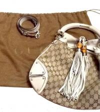 Gucci Guccissima Tassel & Bamboo Indy Bag