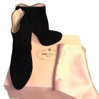 Prada Suede Back-Zip Ankle Boot