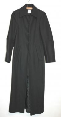 Ann Demeulemeester Black Wool coat Angle1
