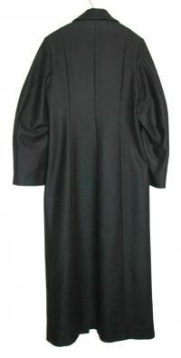 Ann Demeulemeester Black Wool coat Angle2