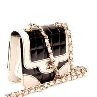 Chanel Flap Square Chocolate Bar Black/Ivory bag