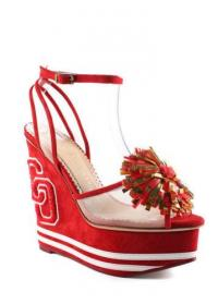 CHARLOTTE OLYMPIA Suede Team Spirit Wedges sz 6.5 Angle1
