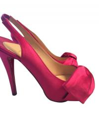 Christian Louboutin Pink Satin Slingback Size 36