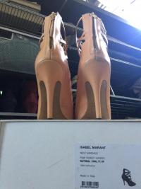 Nude strappy ankle high heel sandal Angle2