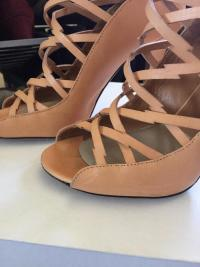 Nude strappy ankle high heel sandal Angle5