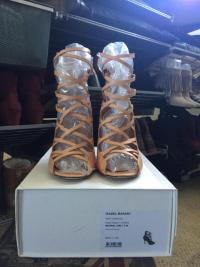 Nude strappy ankle high heel sandal Angle6