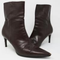 Brown Gucci Leather Ankle Boots Angle1