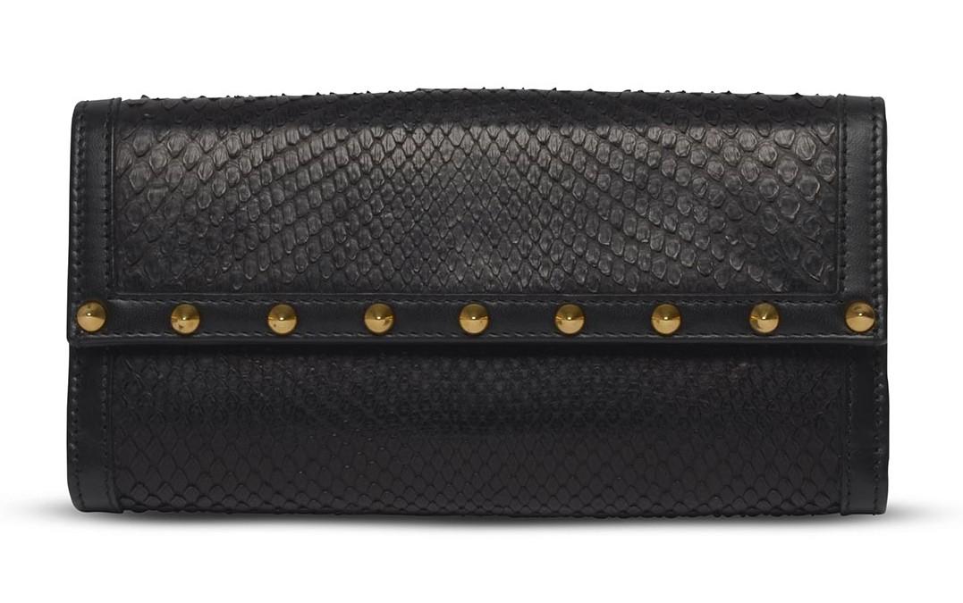 Gucci Black Snakeskin Clutch