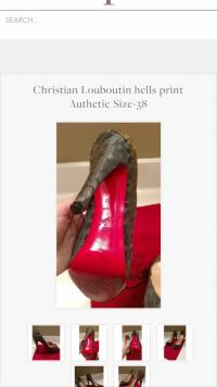 Christian   Louboutin print size 38  Angle2