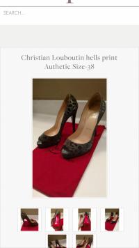 Christian   Louboutin print size 38  Angle4