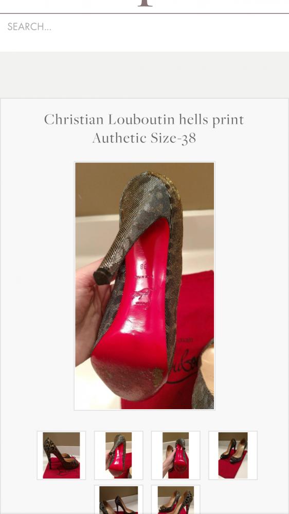 Christian   Louboutin print size 38