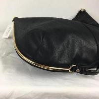 Stella McCartney Black Large Sparkly Shoulder Bag Angle2