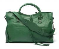 Green Balenciaga Croc Skin Bag Angle1