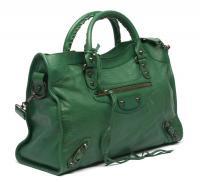 Green Balenciaga Croc Skin Bag Angle2