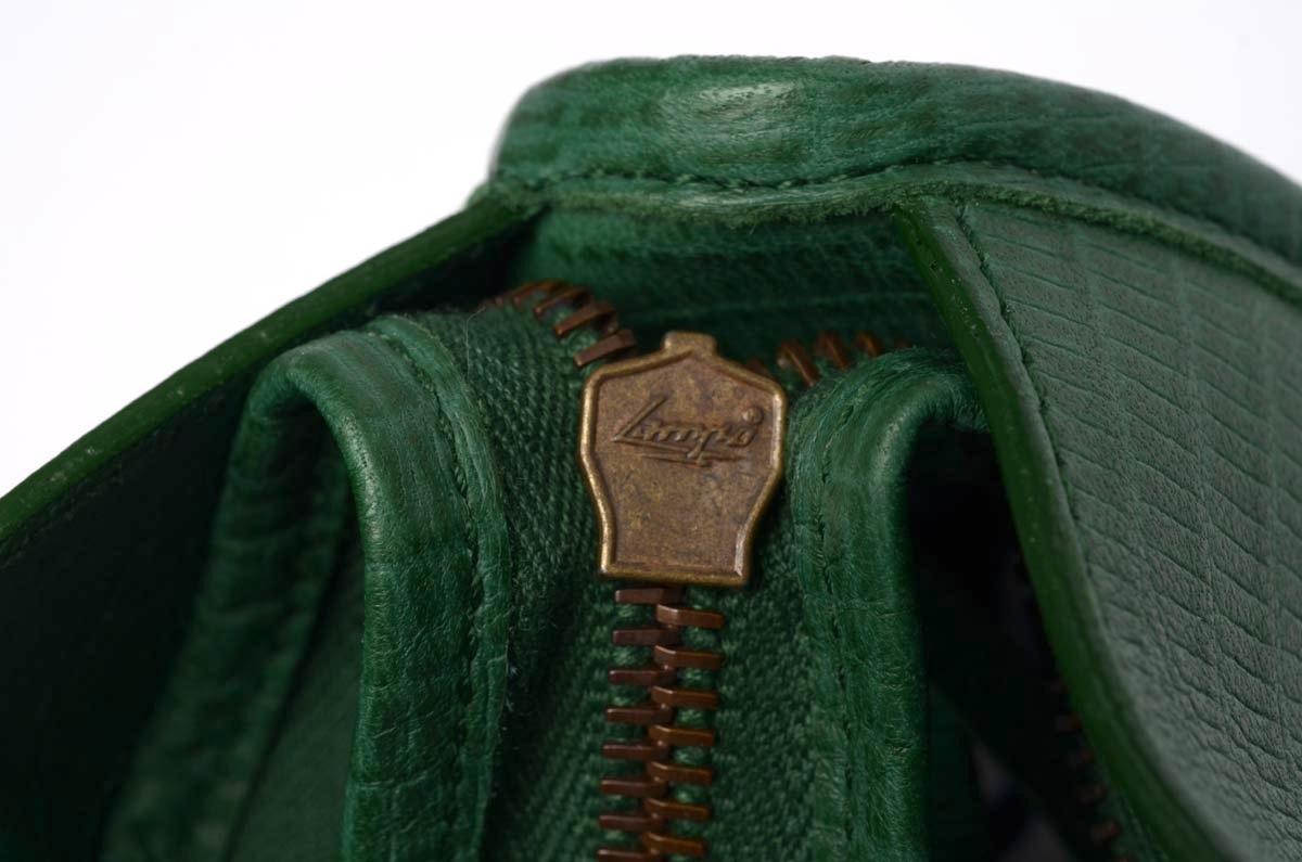 Green Balenciaga Croc Skin Bag