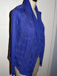 Blue Shawl Collar Missoni Sweater