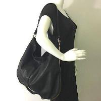 Stella McCartney Black Sparkly Large Shoulder Bag