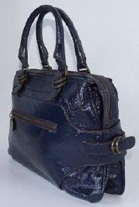 Stella McCartney Purple Vegan Leather Tote Angle6
