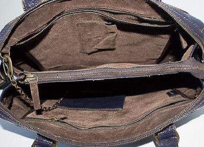 Stella McCartney Purple Vegan Leather Tote
