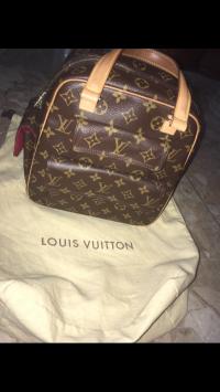 Louis Vuitton Velvet Handbag Angle2