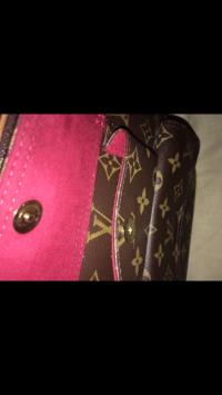 Louis Vuitton Velvet Handbag Angle3
