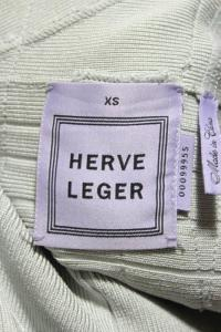 Herve Leger Gray Sleeveless Tassel V Neck Angle6