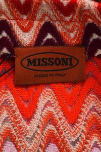 Missoni Red Purple Brown Multicolor Wool Dress Angle5