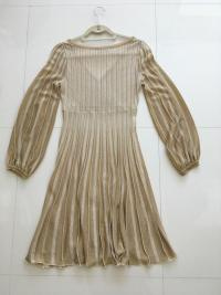 Missoni Italy Gold Metallic Knit Dress Angle2