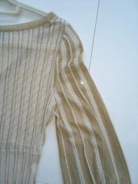 Missoni Italy Gold Metallic Knit Dress Angle4