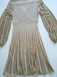 Missoni Italy Gold Metallic Knit Dress Angle5