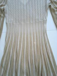 Missoni Italy Gold Metallic Knit Dress Angle6
