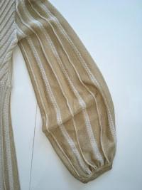 Missoni Italy Gold Metallic Knit Dress Angle8