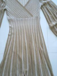 Missoni Italy Gold Metallic Knit Dress Angle9