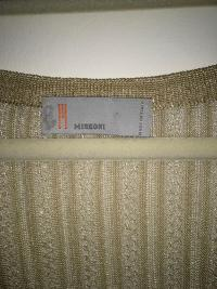 Missoni Italy Gold Metallic Knit Dress Angle10