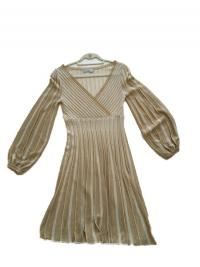 Missoni Italy Gold Metallic Knit Dress Angle1
