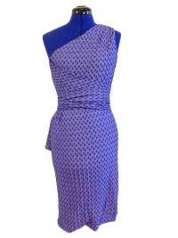 NWT Missoni Orange Label Purple Knit One Shoulder