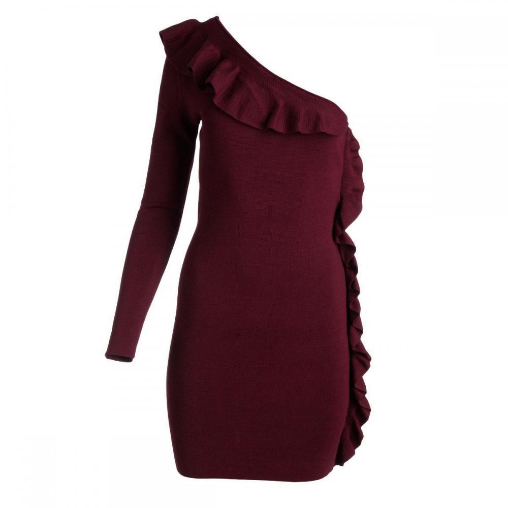 Ruffled  Sweaterdress S BHFO-Torn By Ronny Kobo