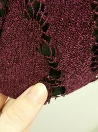 Maroon Lace dress w/ Black Lining Angle3