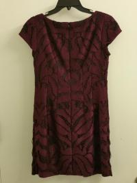 Maroon Lace dress w/ Black Lining Angle4