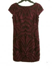 Maroon Lace dress w/ Black Lining
