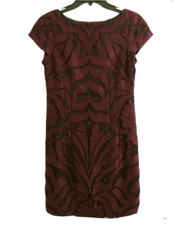 Maroon Lace dress w/ Black Lining