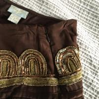 Tracy Reese Silk and Sequin Skirt Size 8 Angle4